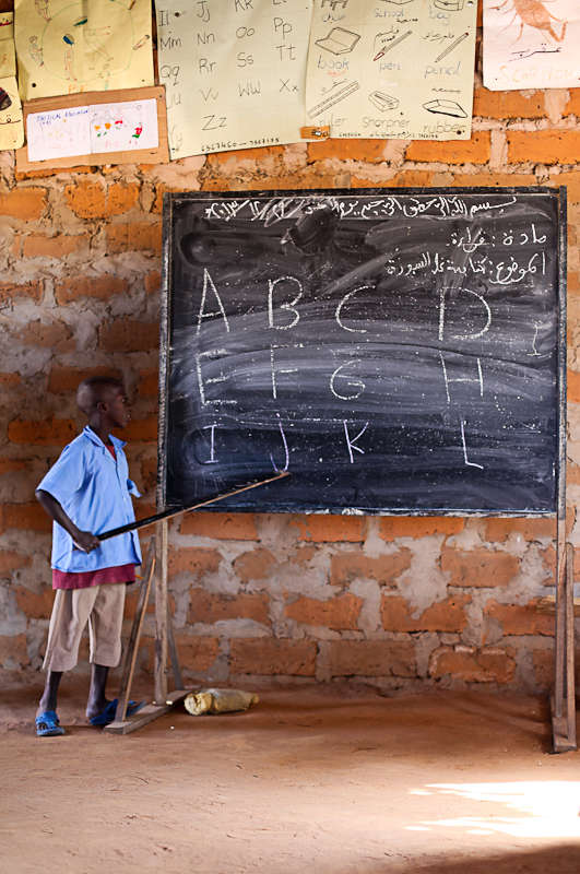 Getting the alphabet learnt in Grade 1 in The Gambia. 2014