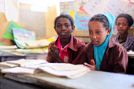 Children learning in the Keyitt General Primary School in Debre Birhan, Ethiopia (2012)